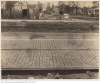 Historic photo from 1890 - Looking down to the lake from Queen Street east of Lee Avenue in The Beaches