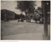 Historic photo from 1890 - Horse drawn carriages at the Intersection of College Street and Spadina Avenue in College Street