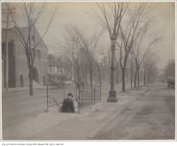 Historic photo from 1890 - Public lavatory under the corner of Queen Street West and Spadina Avenue in Alexandra Park