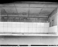 Historic photo from Friday, September 18, 1953 - 43 photos of the vitrolite glass tiles being installed in the Rosedale subway Station in Rosedale