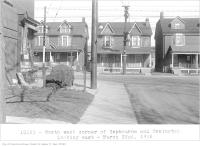 Historic photo from Thursday, March 22, 1934 - North-west corner of Hepbourne and Ossington, looking east, (Legal Department) in Bickford Park