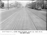 Historic photo from Thursday, June 28, 1934 - Yonge St, north, from Eglinton, 9:45 a.m in North Toronto