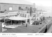Historic photo from Wednesday, April 17, 1935 - Toronto Transportation Commission ferry T.J. Clark in Harbourfront