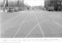 Historic photo from Friday, May 17, 1935 - Streetcar tracks and Canada Dry delivery on St Clair Ave, east, from, Bathurst St, in Casa Loma