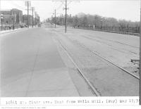 Historic photo from Friday, May 17, 1935 - St Clair Ave, east, from Wells Hill, (Way Department) in Casa Loma