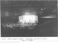 Historic photo from Saturday, August 8, 1936 - Night shot of the grand opera Aida, stadium, Hanlans Point in Toronto Island