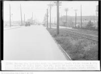 Historic photo from Saturday, September 12, 1936 - Dundas St, looking west, to Sterling Road; photo taken 4 feet south of north curb, 113 feet east of hydro pole on north-east corner of Sterling Road and Dundas Street, (Legal Department) in The Junction