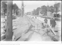 Historic photo from Monday, October 9, 1922 - Yonge St at Millwood, north of Davisville Ave in Chaplin Estates
