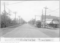 Historic photo from Monday, October 16, 1922 - Kingston Rd, looking west, from Victoria Park Ave in The Beaches