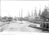 Historic photo from Thursday, October 19, 1922 - Loading platform at Glen Echo on Yonge Street - north end in Teddington Park
