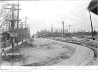 Historic photo from Thursday, October 19, 1922 - Streetcar tracks on Yonge St, looking south from city limit in North Toronto