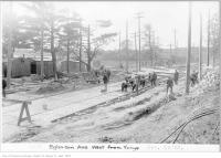 Historic photo from Thursday, October 19, 1922 - Eglinton Ave, west from Yonge in Yonge and Eglinton