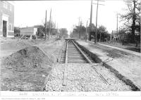 Historic photo from Thursday, October 19, 1922 - Eglinton Ave, west of Duplex Ave looking toward Yonge Street in North Toronto