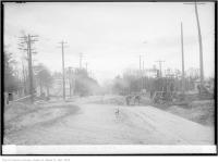 Historic photo from Wednesday, October 25, 1922 - Construction at Yonge and Deloraine, south in Bedford Park