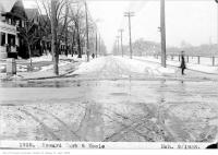Historic photo from Friday, March 9, 1923 - Looking north on Keele at Humberside, with Baird Park on the right in High Park