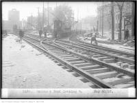 Historic photo from Wednesday, May 30, 1923 - Dundas and Bond, looking west in Downtown
