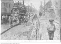 Historic photo from Wednesday, June 13, 1923 - Looking west on Dundas, from Bellwoods with boy in Trinity Bellwoods