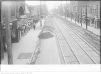 Historic photo from Monday, December 3, 1923 - Mavety Theatre on Dundas Street, looking west in The Junction