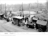 Historic photo from Wednesday, April 30, 1924 - Construction of the Rosedale Loop, looking south-west in Rosedale