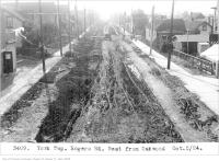 Historic photo from Thursday, October 2, 1924 - Rogers Rd, west, from Oakwood - York Township in Oakwood