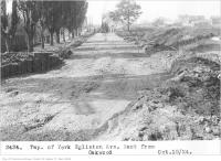 Historic photo from Friday, October 10, 1924 - Eglinton Ave, west, from Oakwood - Township of York in Fairbank
