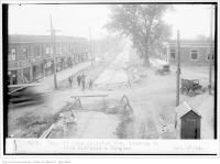 Historic photo from Friday, October 17, 1924 - Eglinton Ave, looking west, from Dufferin and Vaughan - Township of York in Fairbank