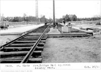 Historic photo from Thursday, October 30, 1924 - St Clair Ave bridge, east approach, looking west in Moore Park