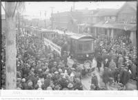 Historic photo from Wednesday, November 19, 1924 - Township of York Railways opening ceremony in Oakwood