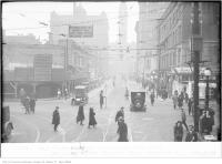 Historic photo from Saturday, December 6, 1924 - Northern Ontario Building site on Bay St, showing no parking, on east side, Saturday, after 12 noon in Downtown