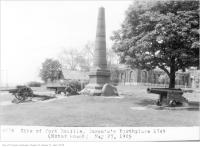 Historic photo from Wednesday, May 27, 1925 - Site of Fort Rouille, Toronto in CNE