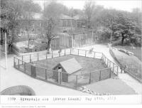 Historic photo from Friday, May 29, 1925 - Riverdale Zoo enclosures (Motor Coach Department) in Riverdale park