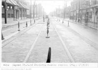 Historic photo from Thursday, September 17, 1925 - Dupont St, east of Christie with Lums Chop Suey Cafe in The Annex