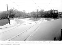 Historic photo from Monday, June 7, 1926 - Rosedale Loop west side of Sherbourne Street, looking west, (Way Department) in Rosedale