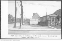 Historic photo from Tuesday, April 19, 1927 - Pape Ave and Gertrude, south-east corner, looking east in The Danforth