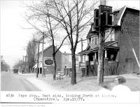 Historic photo from Tuesday, April 19, 1927 - Pape Ave, east side, looking north, at Lipton where the subway station is now in The Danforth