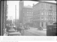 Historic photo from Saturday, March 3, 1928 - Front and Simcoe, 11:50 a.m., looking east, from north side of Front Street, west of Simcoe in Downtown