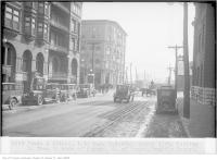 Historic photo from Saturday, March 3, 1928 - Front and Simcoe, 1:33 p.m., looking south, from north side of Simcoe, north of Front in Downtown