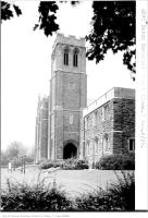 Historic photo from Thursday, August 2, 1928 - South side and tower - Eaton Memorial Church in Forest Hill