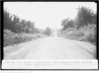 Historic photo from Tuesday, July 30, 1929 - Eglinton Ave, looking west from Bicknell Ave, entering Black Creek Valley in Keelesdale