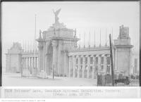 Historic photo from Monday, August 12, 1929 - Full view of the Princes Gates from the north in CNE