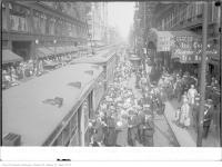 Historic photo from Saturday, August 31, 1929 - Loews Theatre on right - 189 Yonge St looking north from Queen, traffic at 1 p.m in Garden District