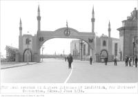 Historic photo from Monday, June 9, 1930 - Arch, erected at Eastern entrance of Exhibition, for Shriners Convention in CNE
