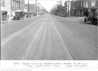 Historic photo from Wednesday, July 30, 1930 - Yonge, north of Bedford Park Avenue, 10:30 a.m. new buildings since 1927 in Bedford Park