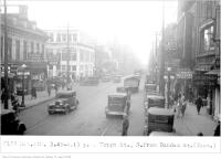 Historic photo from Tuesday, November 4, 1930 - Traffic at 4 p.m., Yonge Street south, from Dundas Street in Downtown