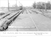 Historic photo from Thursday, May 14, 1931 - St Clair, west, from opposite Prospect Cemetery gate in Little Italy (St. Clair)