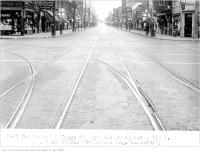 Historic photo from Friday, July 10, 1931 - Dundas St and Yonge St, special trackwork, 6 a.m. in Downtown