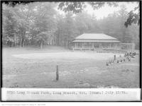 Historic photo from Friday, July 17, 1931 - Open air pavilion and baseball diamond at Long Branch Park in Long Branch