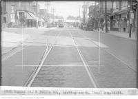 Historic photo from Tuesday, August 11, 1931 - Dupont St and Avenue Rd, looking north with a trolley on the way in The Annex