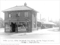 Historic photo from Saturday, September 19, 1931 - T.T.C. city terminal building, north Yonge Street at City Limits in Teddington Park