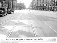 Historic photo from Thursday, October 12, 1933 - Mary Pickford theatre on right - looking west on Queen St. at Spadina in Alexandra Park
